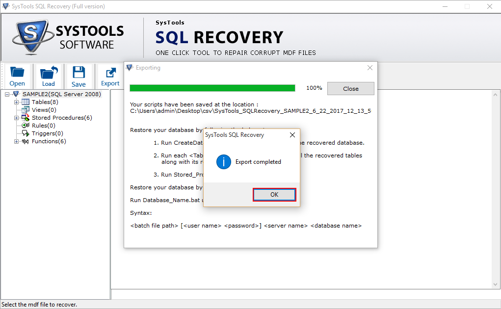 SQL Repair Tool for Corrupt MDF, NDF Database Recovery