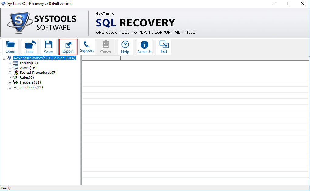 SQL Repair Tool for Corrupt MDF, NDF Database Recovery - Free Demo