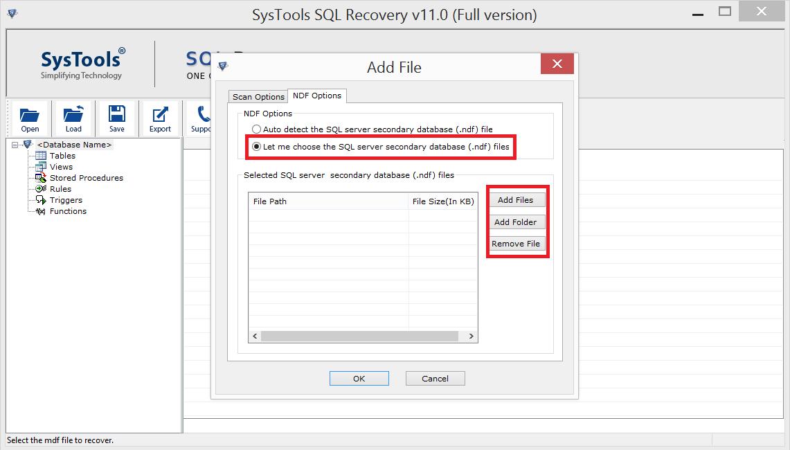 Select SQL NDF File