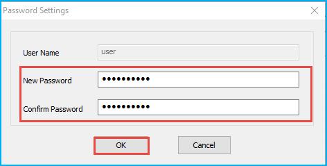 Reset sql password