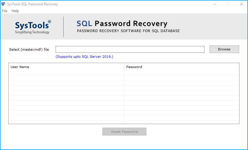 SQL Password Unlocker