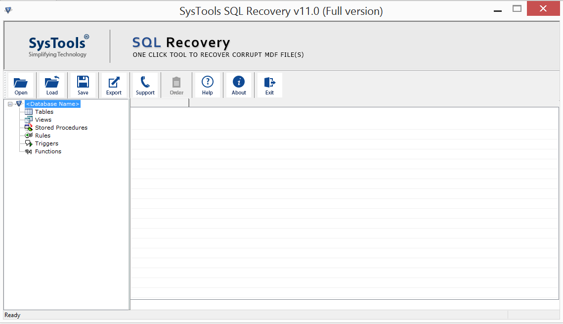 open SQL recovery software