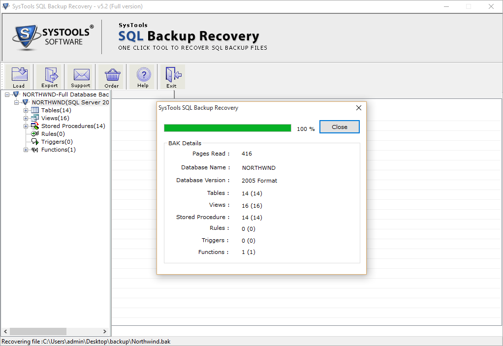 SQL Backup Recovery Tool to Restore Corrupt SQL Backup File
